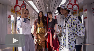 Jakarta Fashion & Food Festival presents fashion show inside LRT train