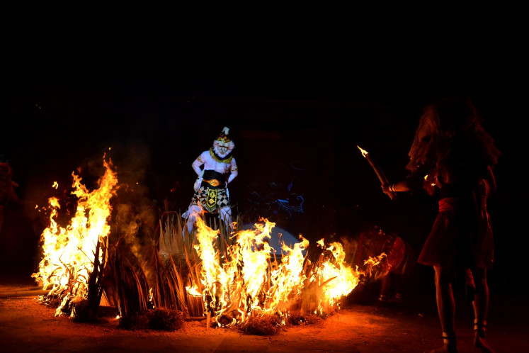 The story of 'Ramayana' is staged at full moon at Balekambang Park in Surakarta.