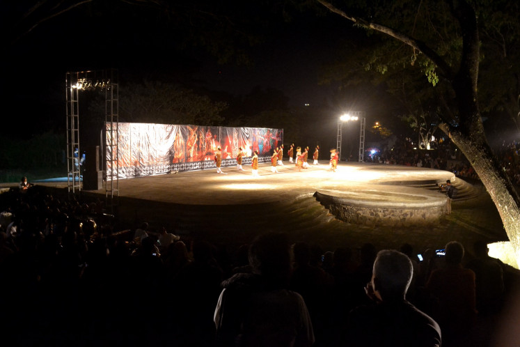 Amphitheater is one of several cultural venues at Balekambang Park, Surakarta.