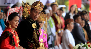 Jokowi dons Balinese attire to celebrate diversity on Independence Day