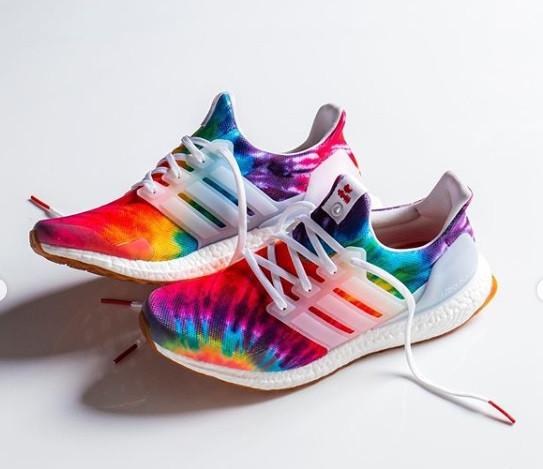 Adidas' tie-dye Ultraboost sneakers