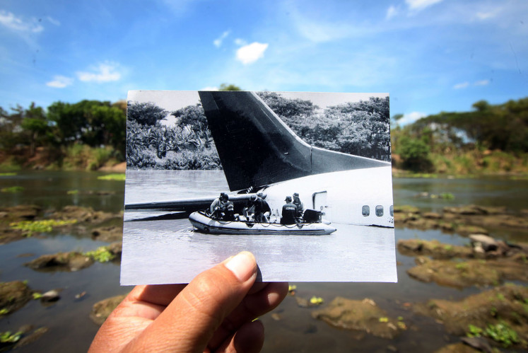 In pictures: Post-emergency landing of GA 421 in Bengawan Solo