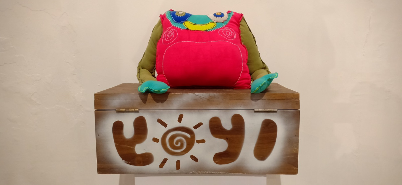"Mochammad Fajar's ""Yoyi"" is a legless monster with a boxy body."