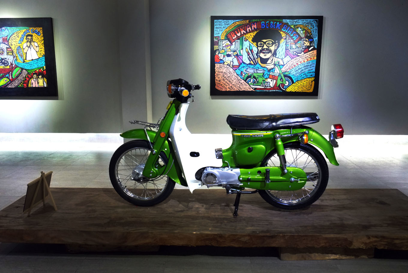 Late artist Tino Sidin's restored motorcycle on display in