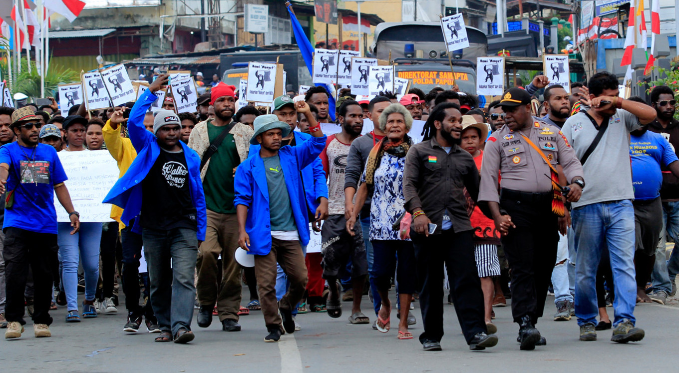 Protests against racism continue in several Papuan cities