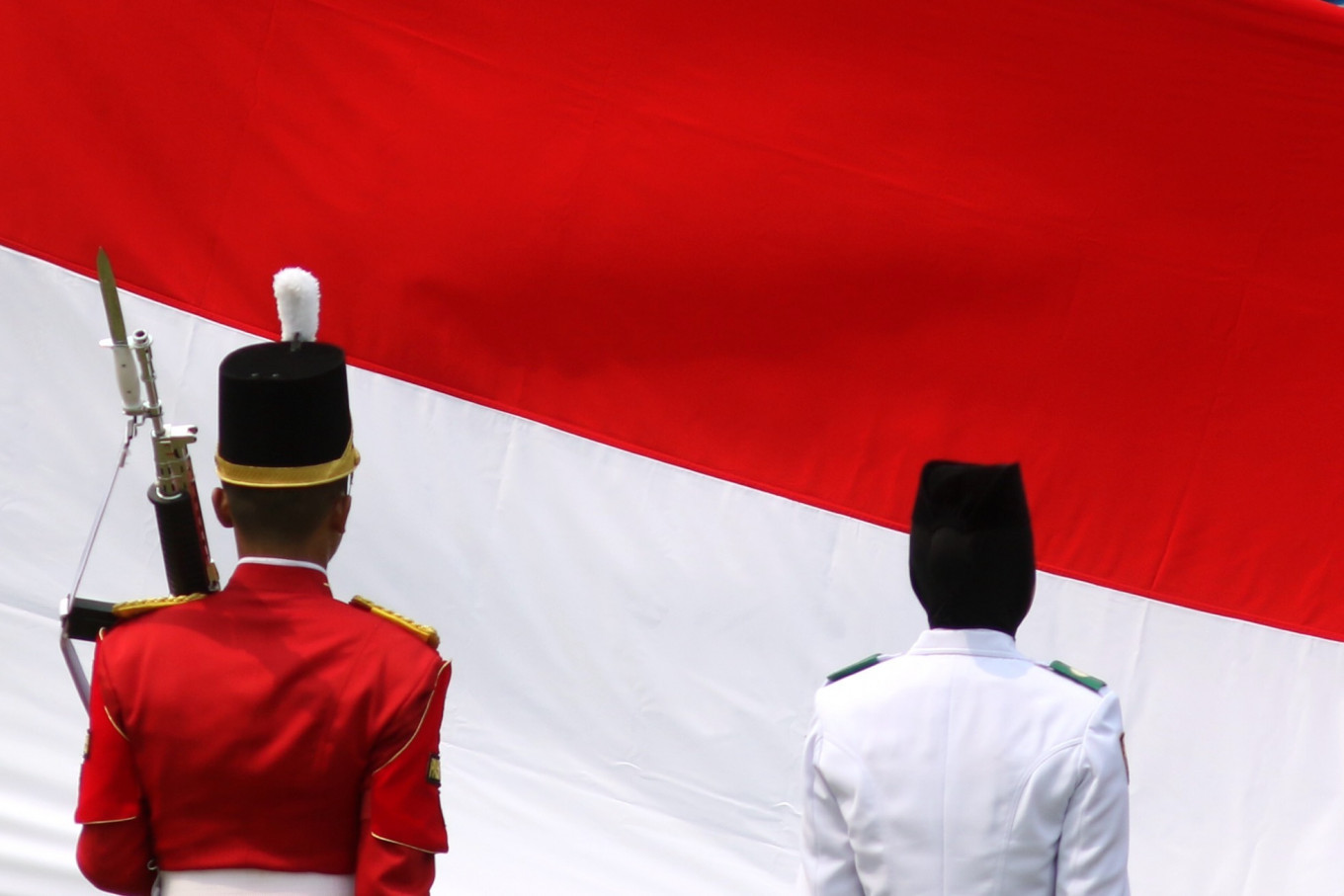 The national flag-hoisting team at the Independence Day ceremony in Jakarta on Aug. 17. JP/ Seto Wardhana