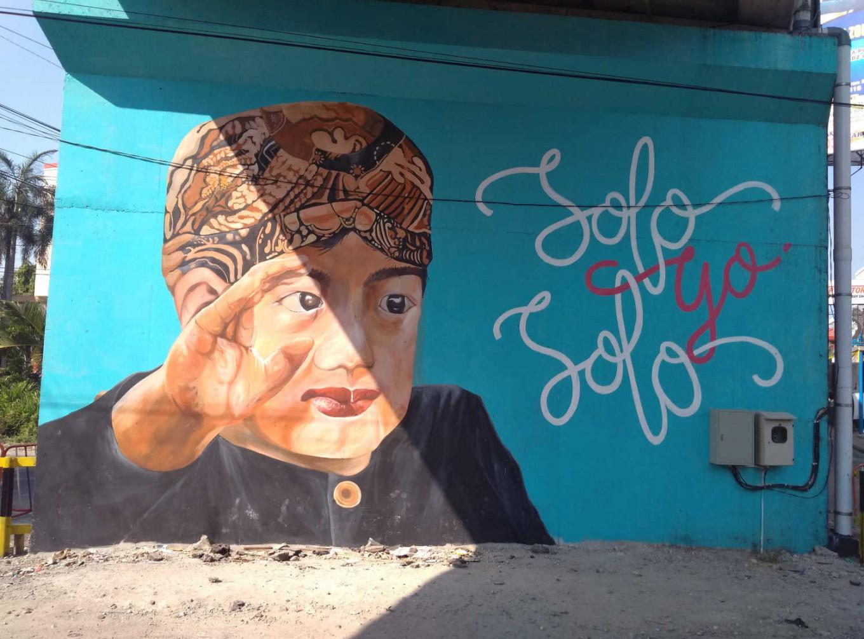 Murals on the overpass also display children characters. JP/Ganug Nugroho Adi