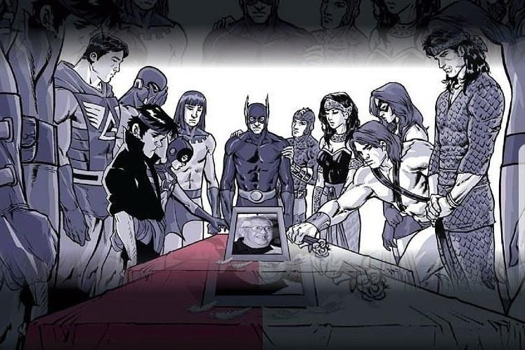 Gundala and other Indonesian superheroes pay respects to 'Panji Koming' creator Dwi Koen