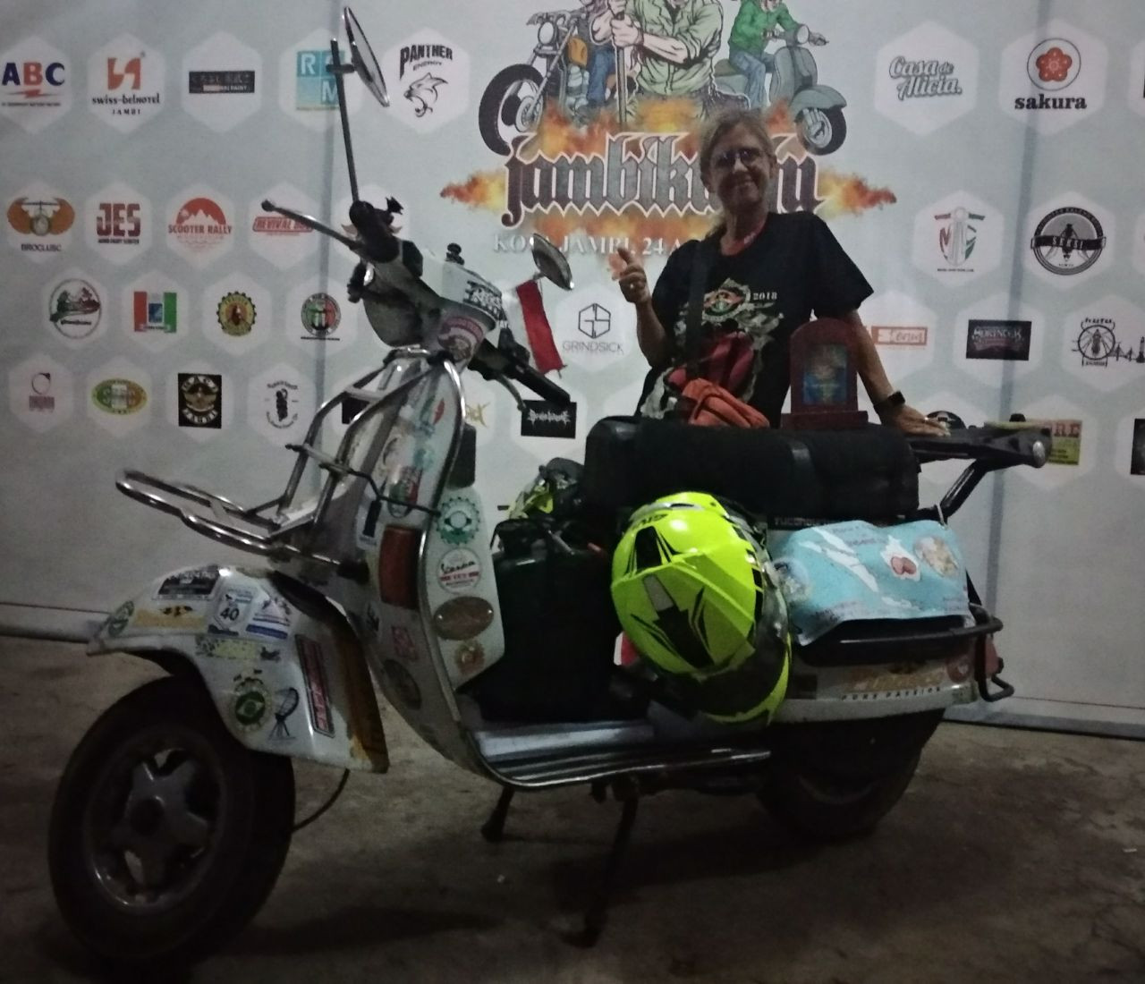 'One Vespa, a million brothers': Scooter enthusiasts gather in Jambi