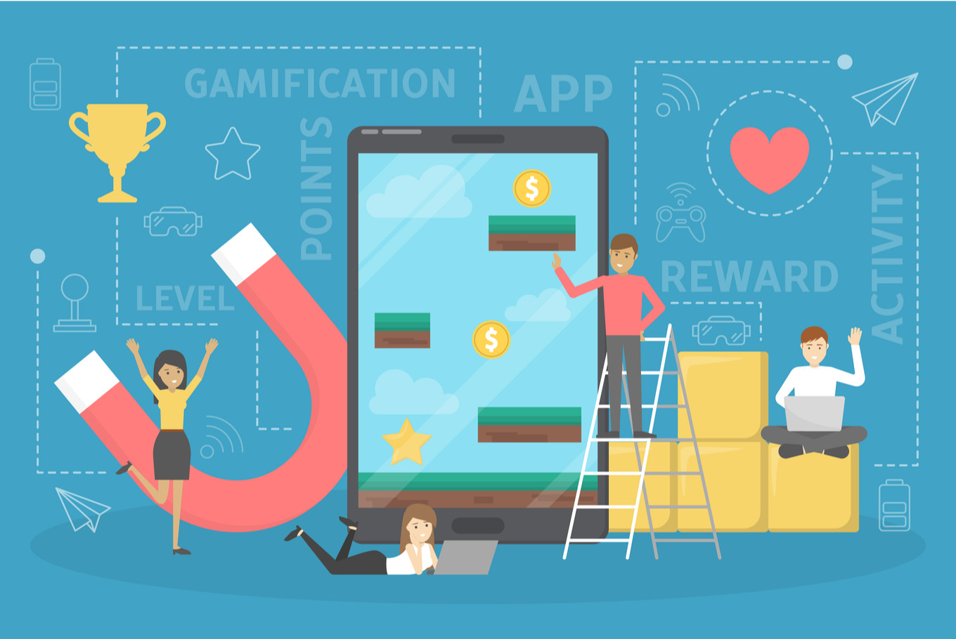 Increase your KPI by using gamification and compete with world-class businesses