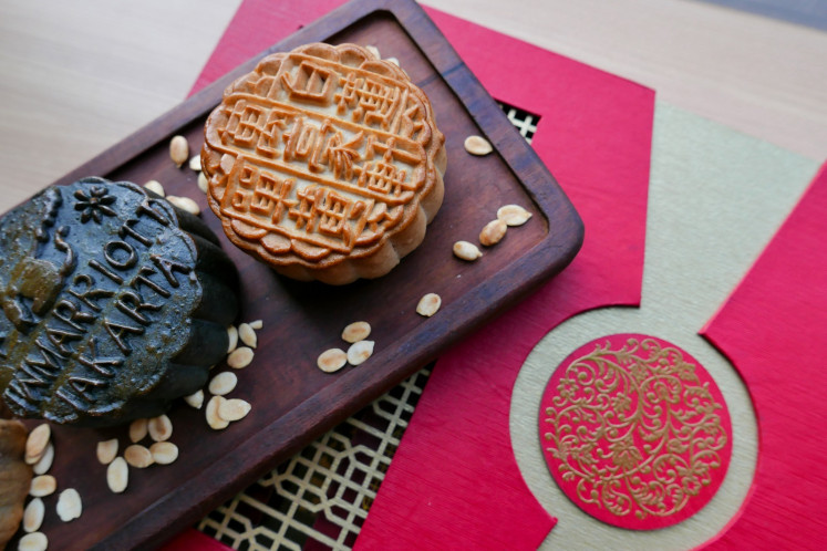 Mooncakes at Pearl Chinese Restaurant, JW Marriott Hotel Jakarta.