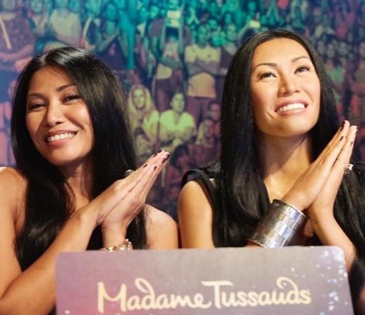 Anggun celebrates chart success, Madame Tussauds doppelgänger