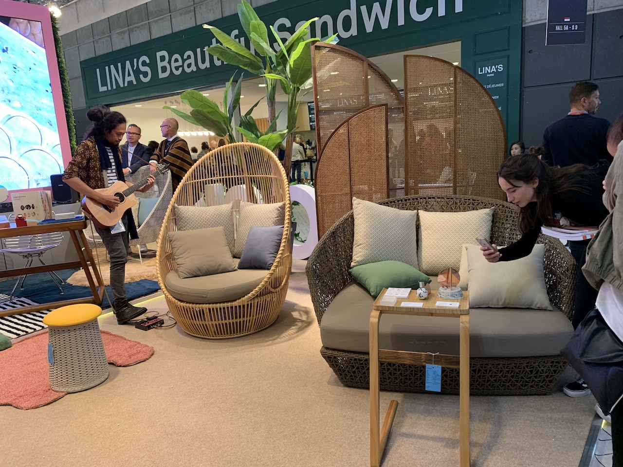 Booth 004 - A tropical taste of Indonesia presented in contemporary furniture displayed at the Indonesian Pavilion at the Maison&Objet 2019 trade show.