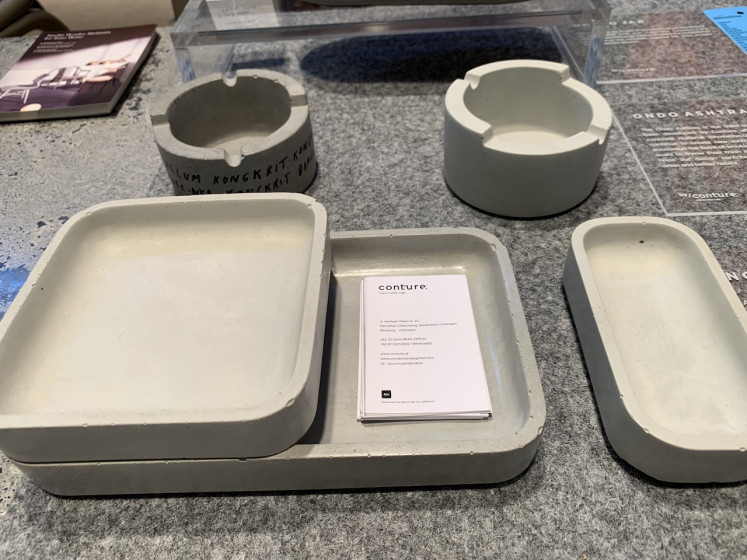 Conture Concrete Lab's tableware collection.