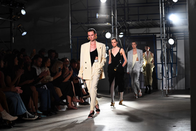 Models walk the runway for Proenza Schouler's Spring 20 collection show during New York Fashion Week on September 10, 2019 in New York City.