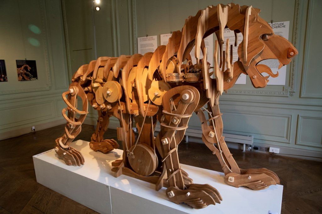 Leonardo da Vinci's mechanical lion goes on display in Paris