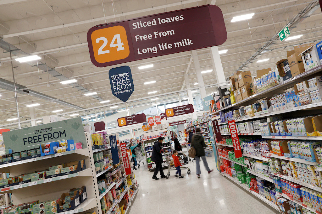British supermarket Sainsbury's vows to halve plastic packaging by 2025
