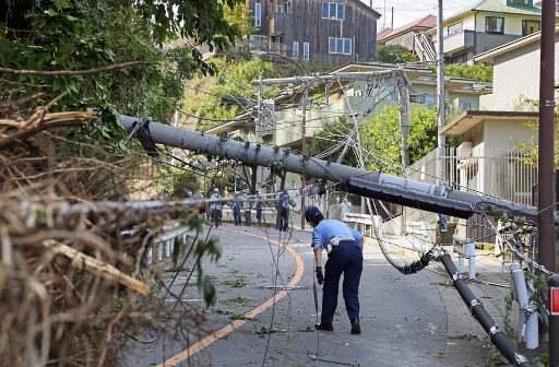 Almost 80,000 homes still without power a week after Japan typhoon