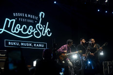 The festival features music and books in one place. JP/Tarko Sudiarno