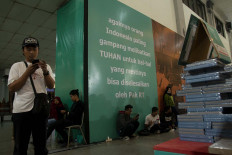 Quotations from popular Indonesian writers at the festival. JP/Tarko Sudiarno