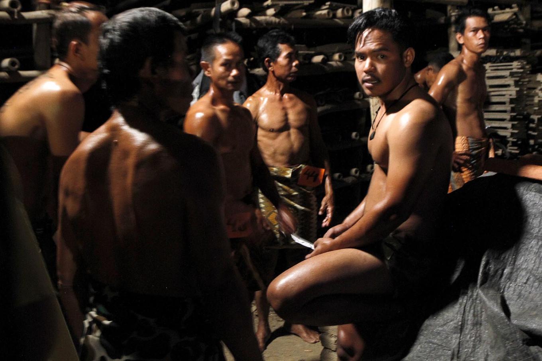 Some of the 68 competitors in the 2019 Jatiwangi Cup wait their turn to perform at the tile drying area of the Dua Saudara jebor in Burujul Kulon, Majalengka, West Java. JP/Arya Dipa