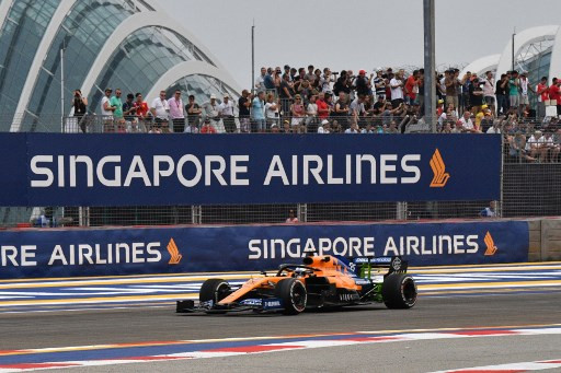 Forest fire haze clears over Singapore ahead of F1