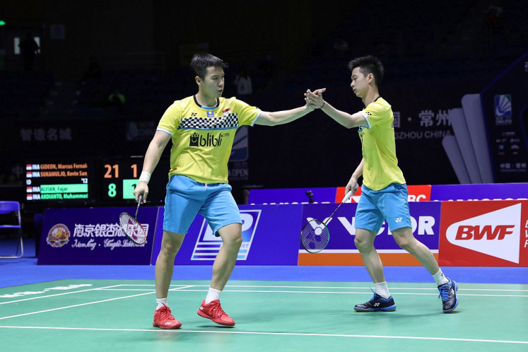 Indonesia expects two titles in China Open badminton tournament finals