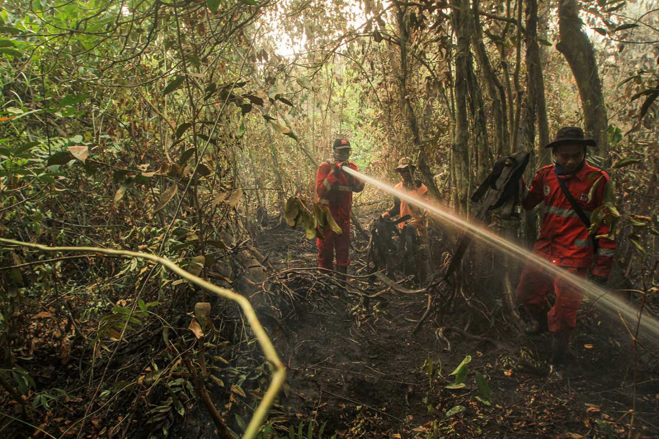 Riau lifts emergency status for haze as hot spots extinguished