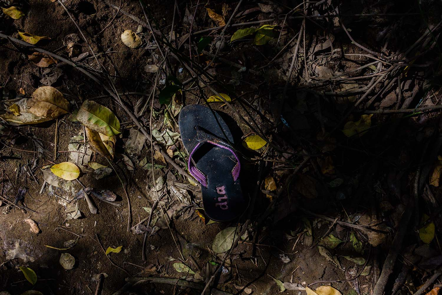 A sandal is among the pieces of domestic waste found in the mangrove area of Baros.JP/Anggertimur Lanang Tinarbuko