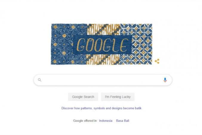 Batik motifs adorn Google Indonesia's homepage on Wednesday