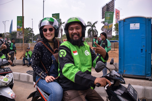 Lack of land availability hampers plan to organize app-based 'ojek' drivers in Tanah Abang
