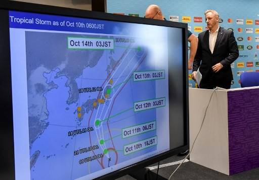 Two World Cup games axed as super typhoon bears down on Japan