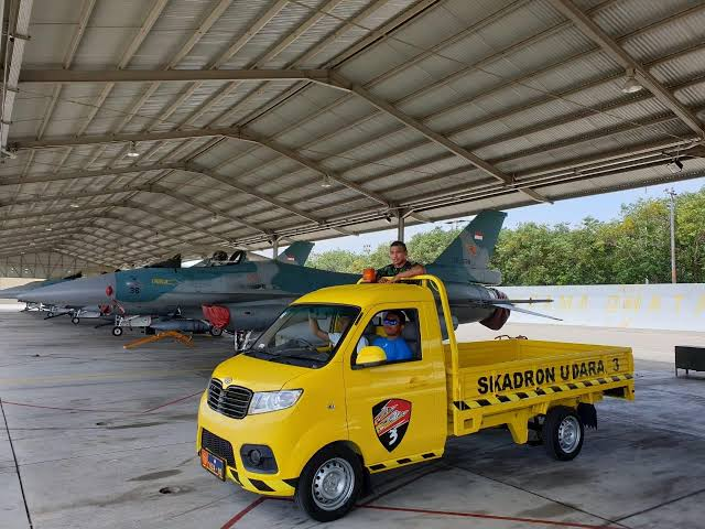 Air Force base in East Java uses locally made cars to support operations