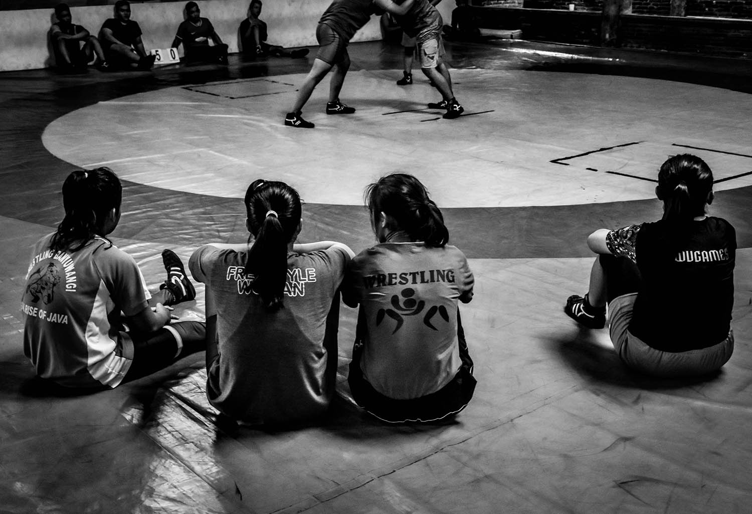 Young wrestlers learn discipline in Malang