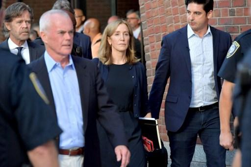 Actress Felicity Huffman begins prison term