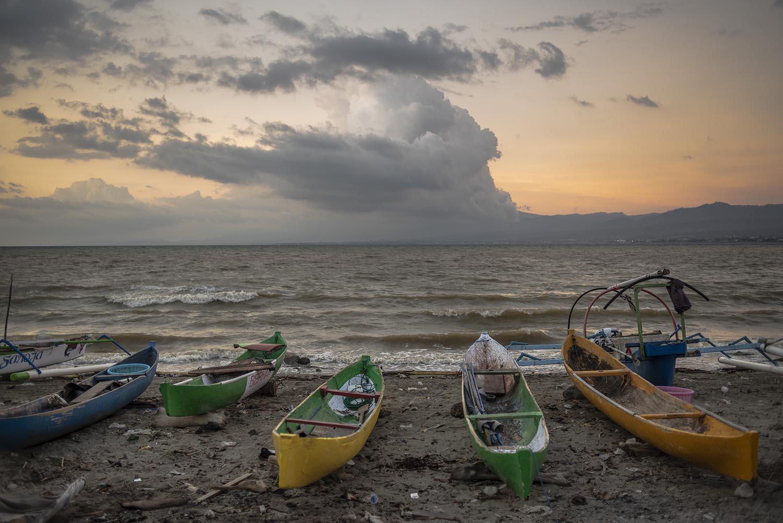 Fishing boats on Talise Beach. JP/Rosa Panggabean