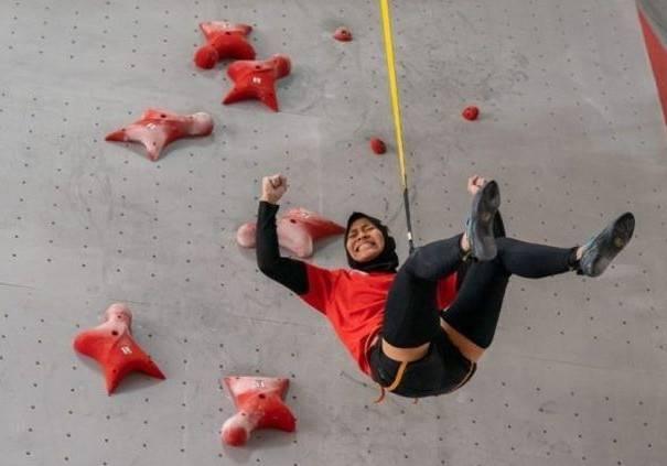 Speed climbing world record