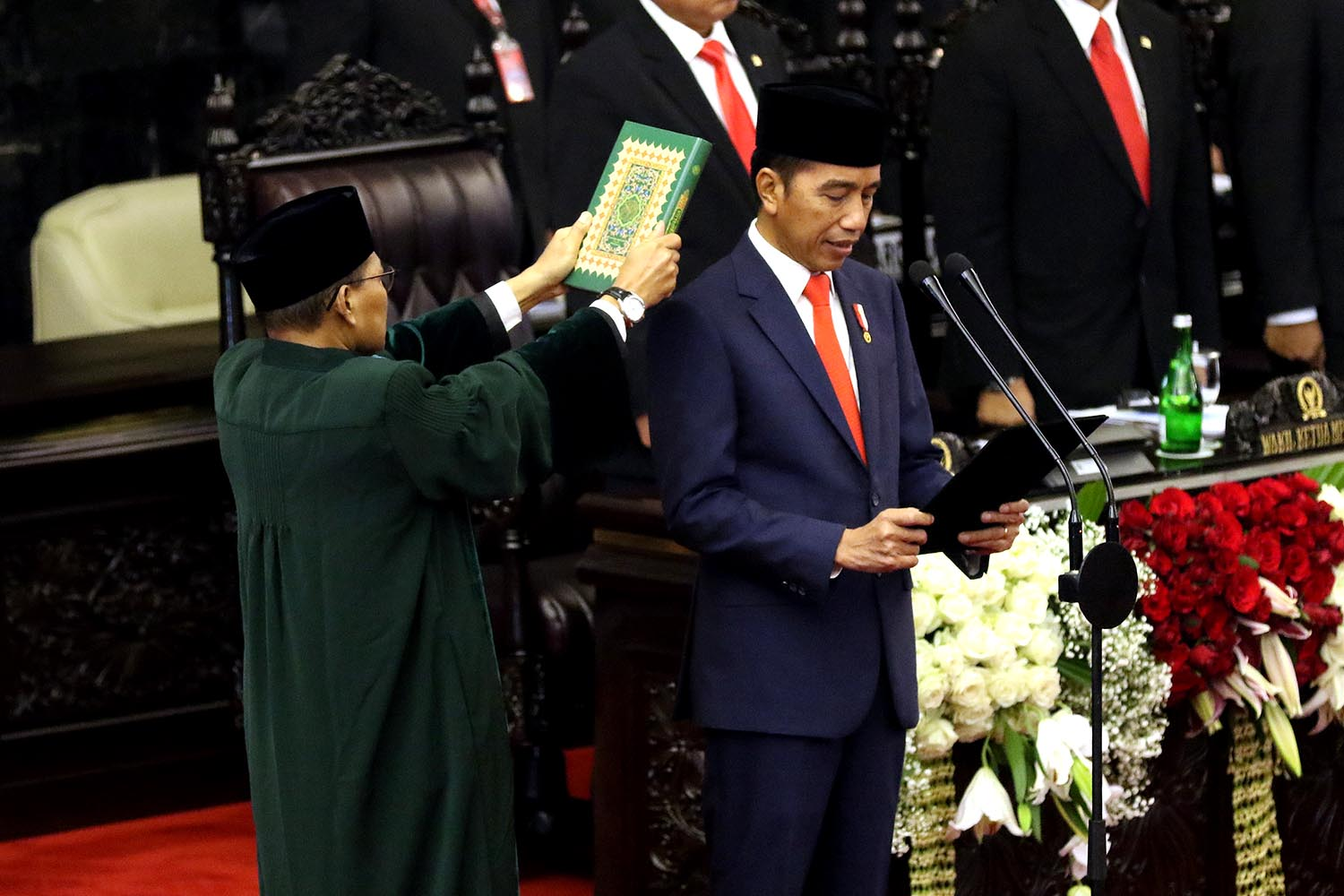Jokowi under fire for failing to address human rights in inauguration speech