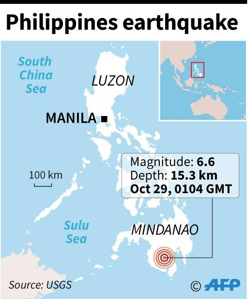 6.6-magnitude earthquake hits southern Philippines, felt in North Sulawesi
