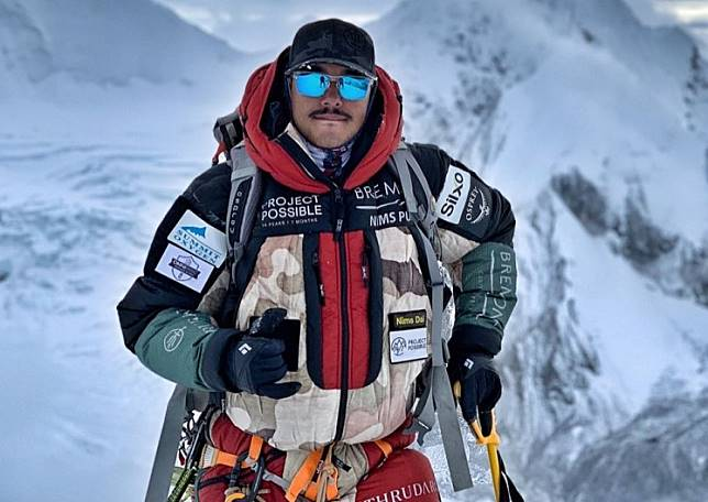 Nirmal Purja makes history by climbing all 14 peaks above 8,000 meters in 190 days