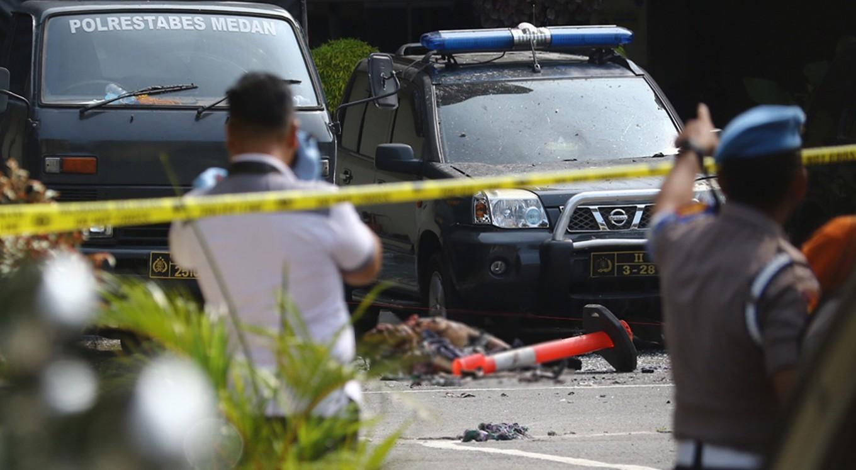 BREAKING: Apparent suicide bombing hits Medan Police precinct headquarters