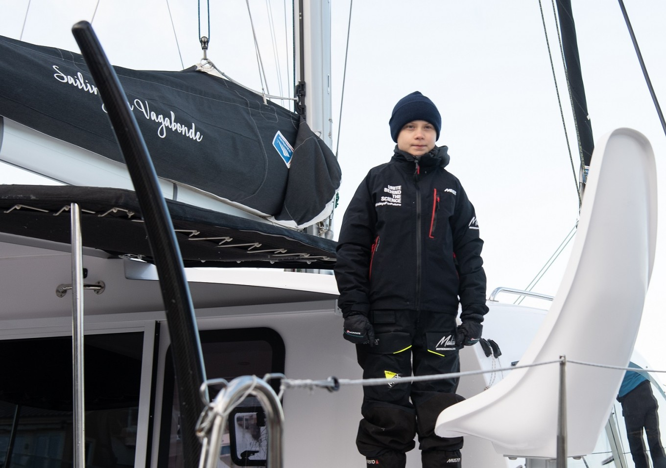 Greta Thunberg sets sail for Spain ahead of climate summit
