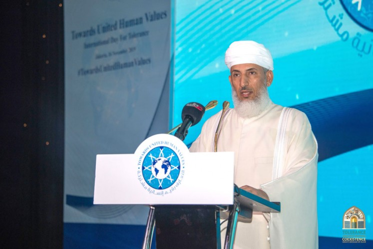 Oman's Minister of Endowments and Religious Affairs Sheikh Abdullah Bin Mohammed Al Salmi
