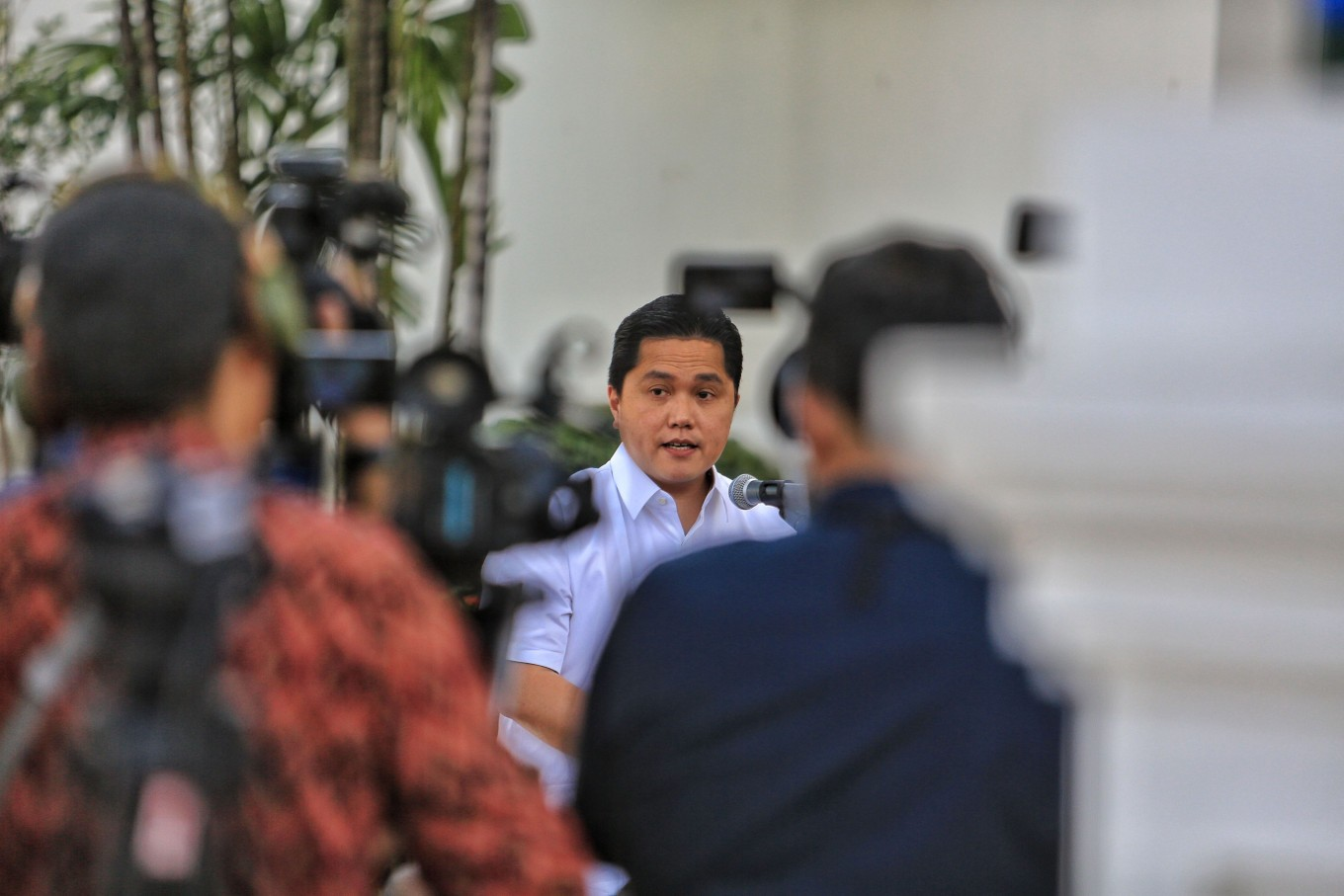 Erick Thohir 'surprised' that an SOE director served in six other commissioner seats at once