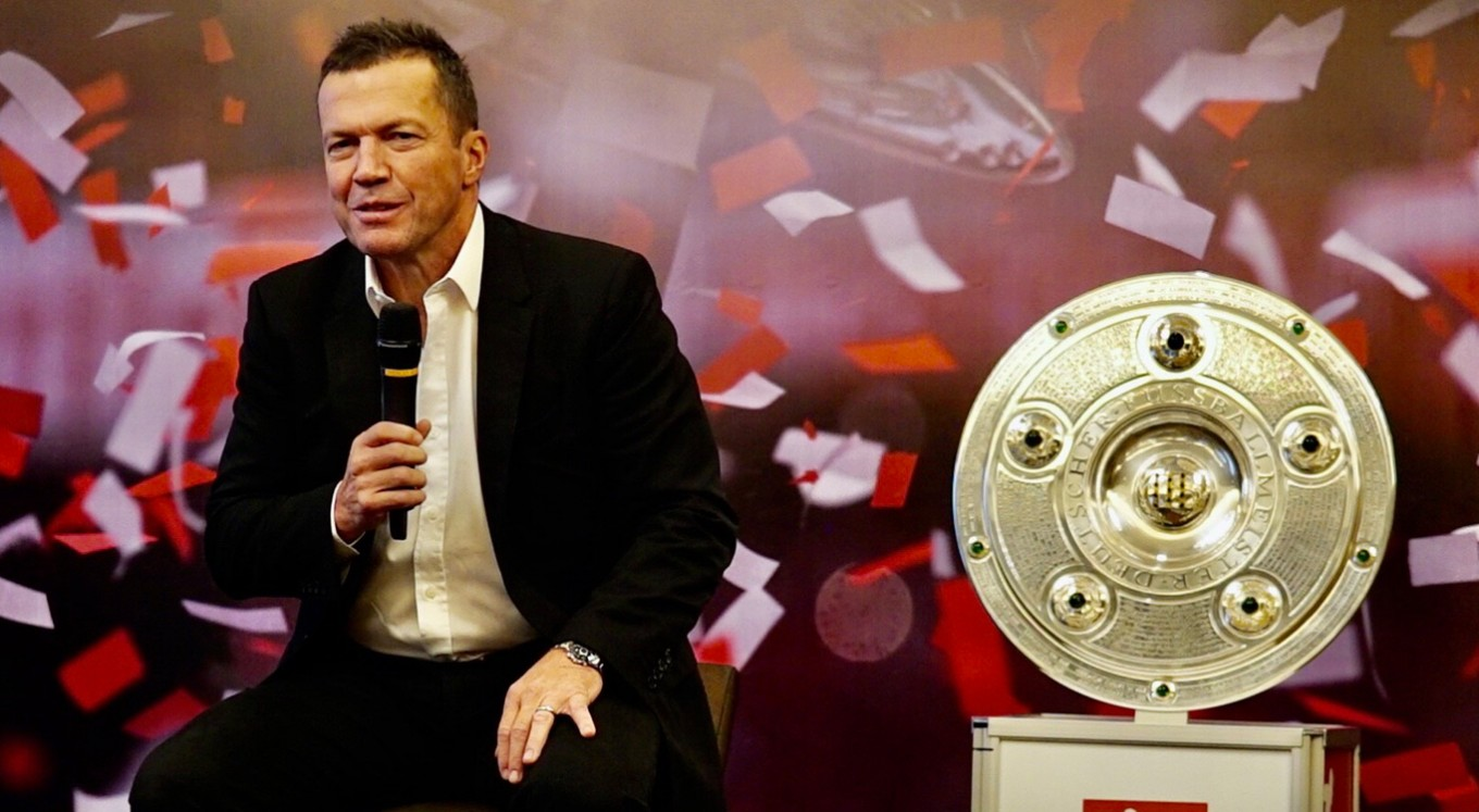 Bundesliga's front face Matthaus greets Indonesian fans in attempt to lure more