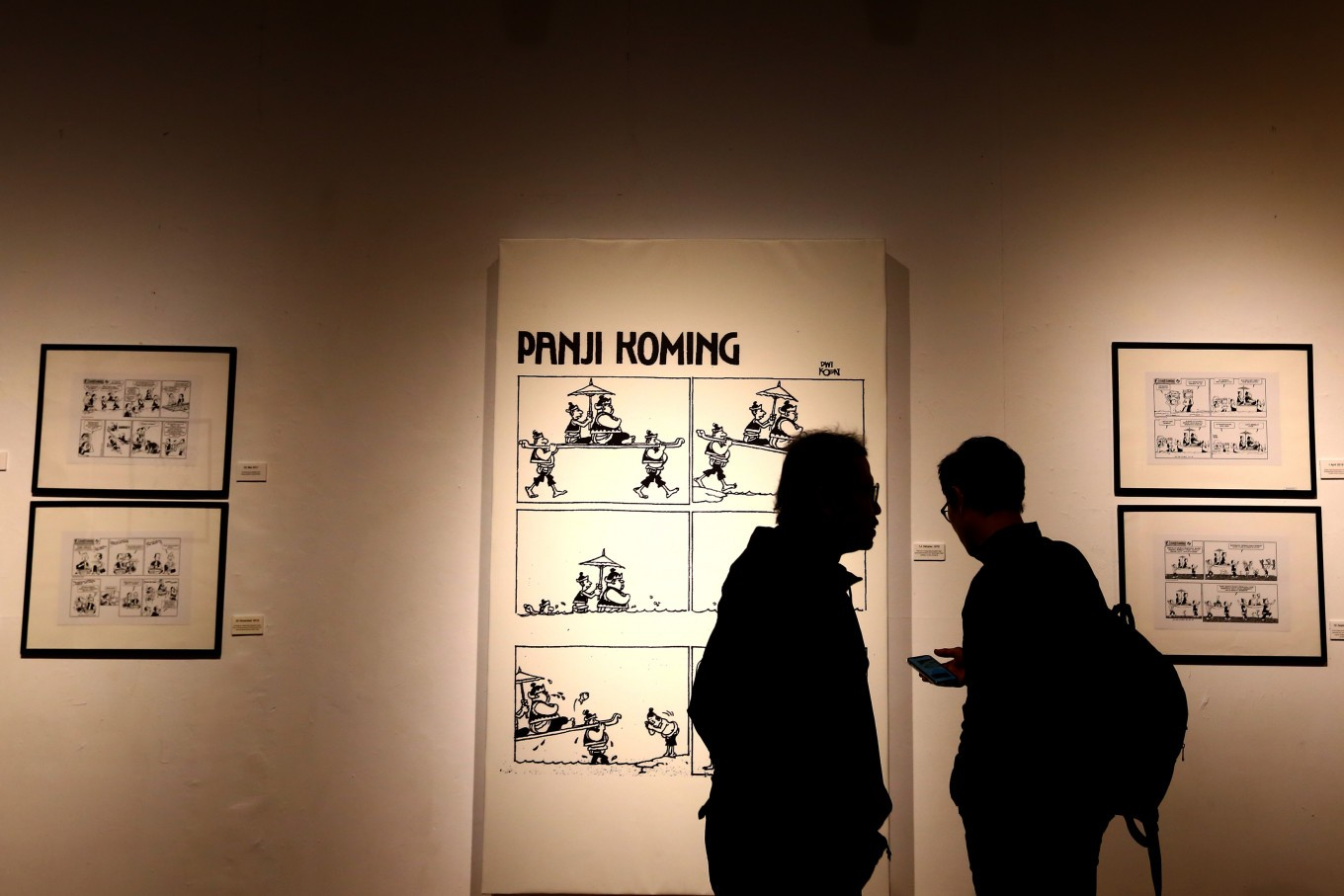 The first 'Panji Koming' comic strip (pictured above) was published in 'Kompas' on Oct. 14, 1979.