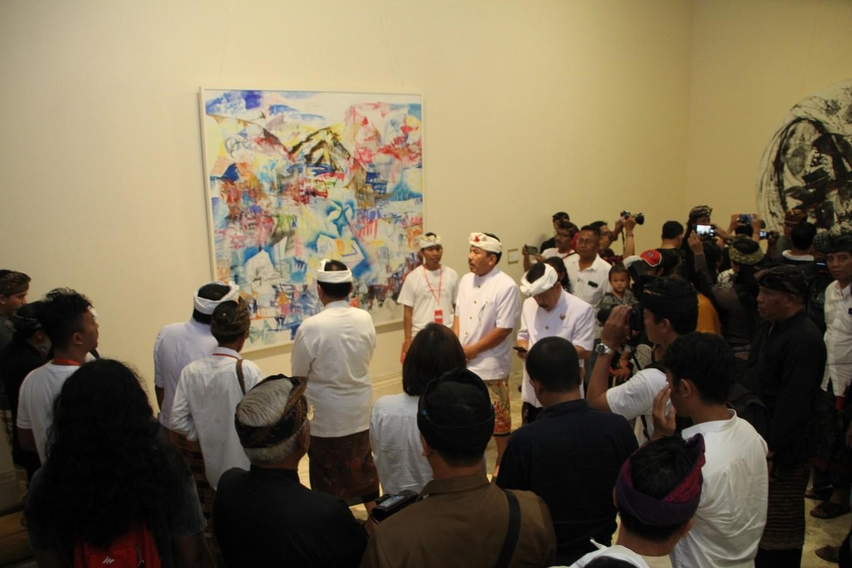 Bali Deputy Governor Cokorda Ace during the opening of Bali Megarupa at ARMA on Nov.10.