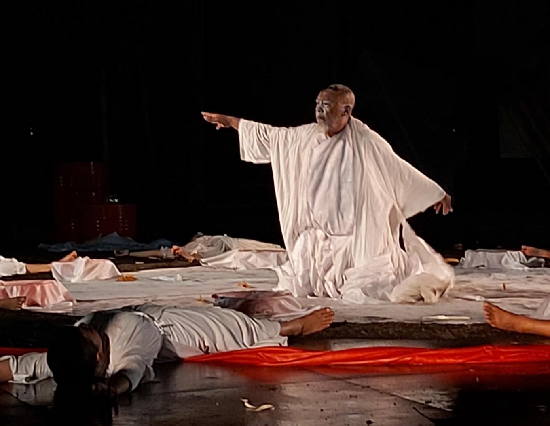 Nyoman Erawan during the performance of Gladi Ritus Seni Tarirupabunyi 'Kidung Megarupa' on Oct. 10 at ARMA.