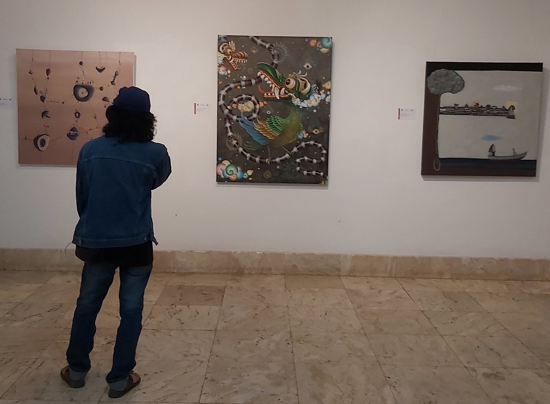 Bali Megarupa exhibition display at Neka Art Museum.