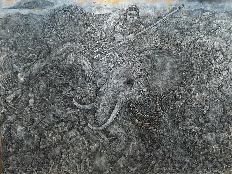 'Bali Singhamdawa' (2019) by Nyoman Ari Winata.